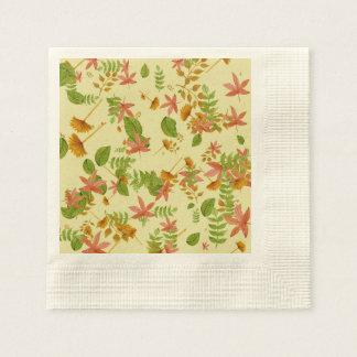 Vintage Autumn foliage Paper Napkin
