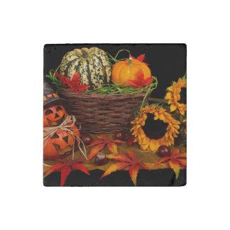 Vintage Autumn Stone Magnet