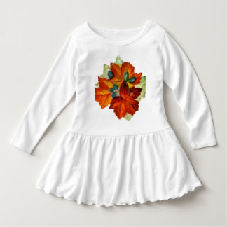 Vintage Autumn Leaves Fall Leaf Dress