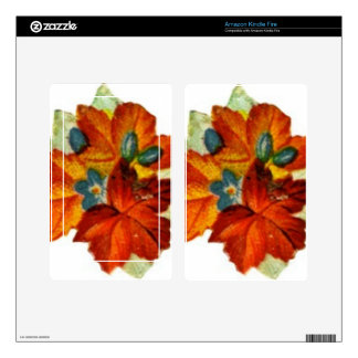 Vintage Autumn Leaves Fall Leaf Kindle Fire Decals