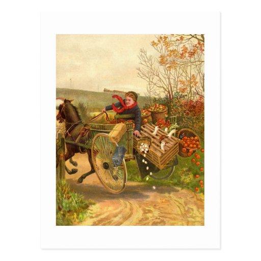 Vintage Autumn Postcard