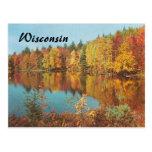 Vintage Autumn Scene Postcard