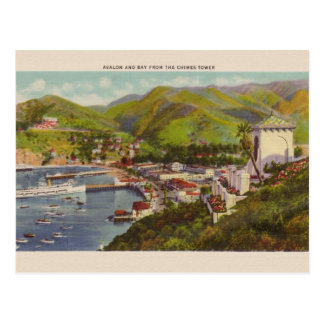 Vintage Avalon California Bay Chime Tower Postcard