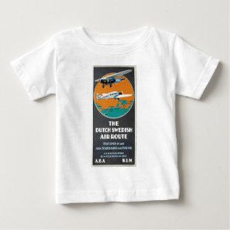 Vintage Aviation Advertisement Dutch Swedish Air Baby T-Shirt