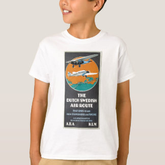Vintage Aviation Advertisement Dutch Swedish Air T-Shirt