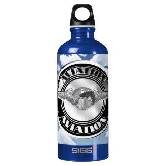 Vintage Aviation Art Aluminum Water Bottle