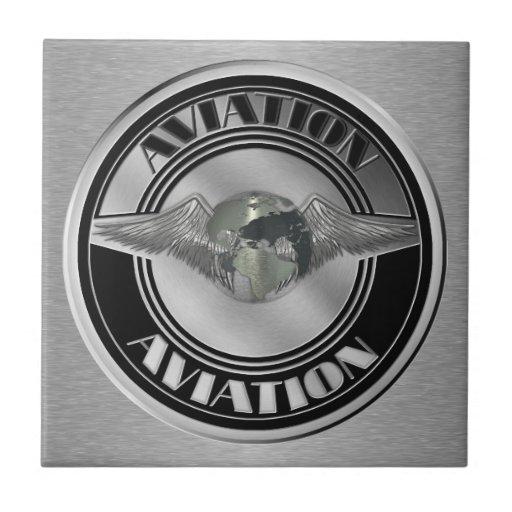 Vintage Aviation Art Ceramic Tile
