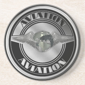 Vintage Aviation Art Drink Coaster