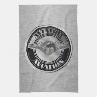 Vintage Aviation Art Towel
