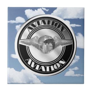 Vintage Aviation Art Tile