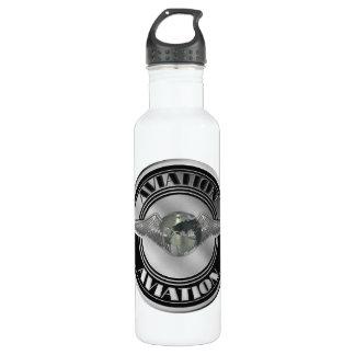 Vintage Aviation Art Water Bottle