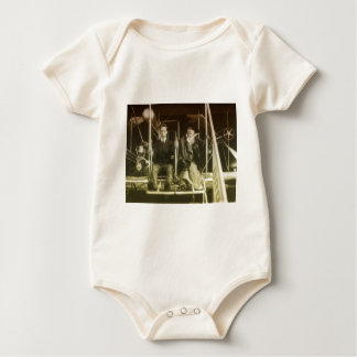 Vintage Aviation Baby Bodysuit