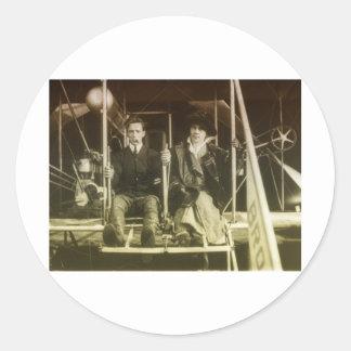 Vintage Aviation Classic Round Sticker