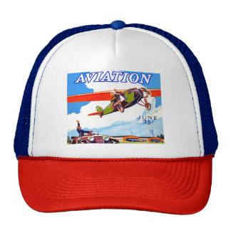 VINTAGE AVIATION ILLUSTRATION Trucker Hat