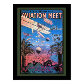 Vintage Aviation Meeting in Los Angeles Poster Postcard