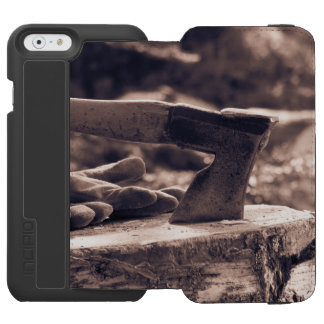 Vintage axe iPhone 6/6s wallet case