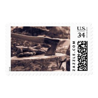 Vintage axe postage