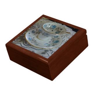 Vintage Aynsley Blue Rose Tea Cup Box