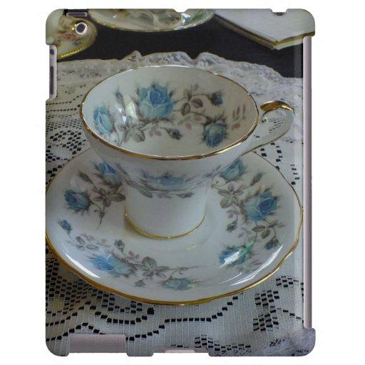 Vintage Aynsley Blue Rose Tea iPad Case