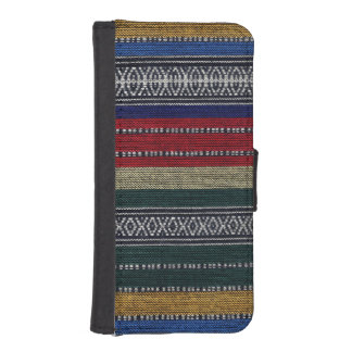 Vintage Aztec Tribal Andes Pattern Fabric Look iPhone SE/5/5s Wallet