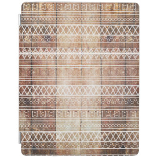 Vintage Aztec Tribal Wood iPad Cover