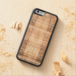 Vintage Aztec Tribal Wood Carved® Maple iPhone 6 Bumper Case