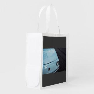 Vintage azul bolsa reutilizable