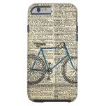 Vintage azul de la bici de la bicicleta del arte funda de iPhone 6 tough