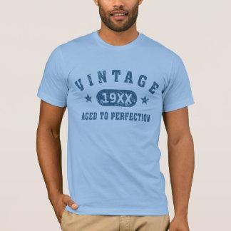 Vintage azul del texto envejecido a la camiseta de