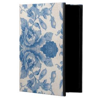 Vintage azul elegante floral