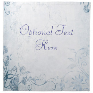 Vintage azul elegante servilletas de papel