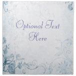 Vintage azul elegante servilletas imprimidas