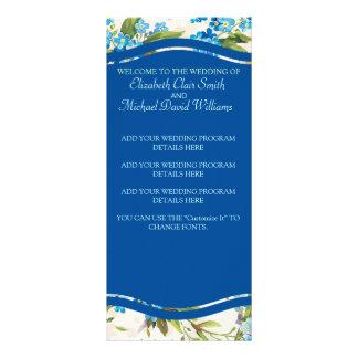Vintage azul hermoso de la flor de la cala lonas