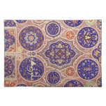 Vintage azul medio-oriental árabe de Rosetttes Mantel Individual