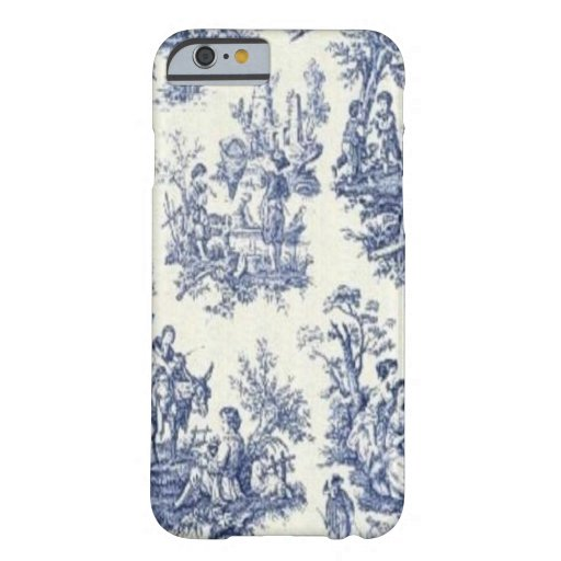 Vintage azul Toile Funda Para iPhone 6 Barely There