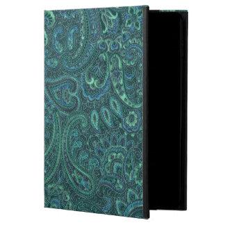 Vintage azulverde Paisley de los tonos