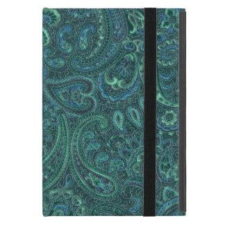 Vintage azulverde Paisley de los tonos iPad Mini Carcasas