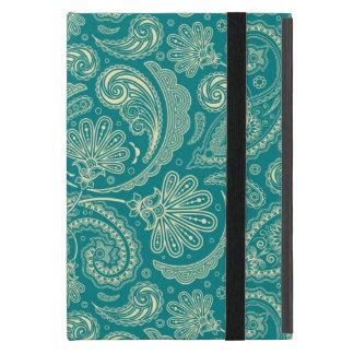 Vintage azulverde y beige Paisley de la nata iPad Mini Protector