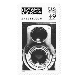 Vintage b&w Camera Stamps