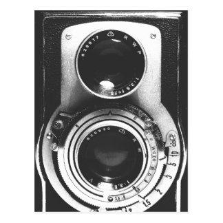 Vintage b&w Camera Postcard