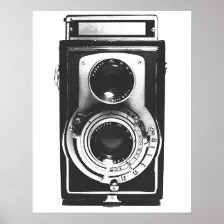 Vintage b&w Camera Print