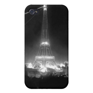 Vintage B&W Eiffel Tower Photo iPhone 4 Cover