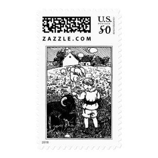 Vintage Baa, Baa, Black Sheep Rhyme Postage