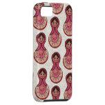 Vintage Babushka Nesting Dolls Matryoshka Pattern iPhone 5 Cases