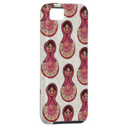 Vintage Babushka Nesting Dolls Matryoshka Pattern iPhone SE/5/5s Case