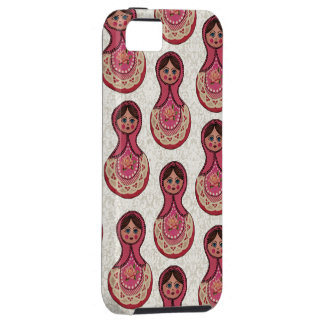 Vintage Babushka Nesting Dolls Matryoshka Pattern iPhone SE/5/5s Case