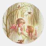Vintage Baby Angels Classic Round Sticker