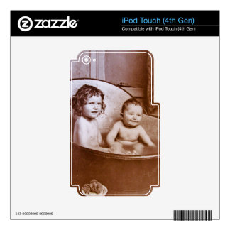 Vintage Baby Bath Time Skins For iPod Touch 4G
