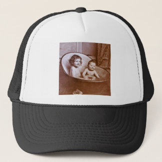 Vintage Baby Bath Time Trucker Hat