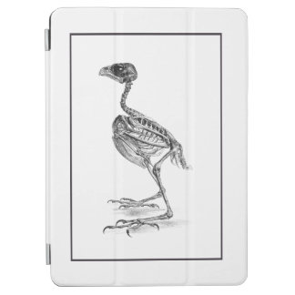 Vintage baby bird skeleton etching iPad air cover